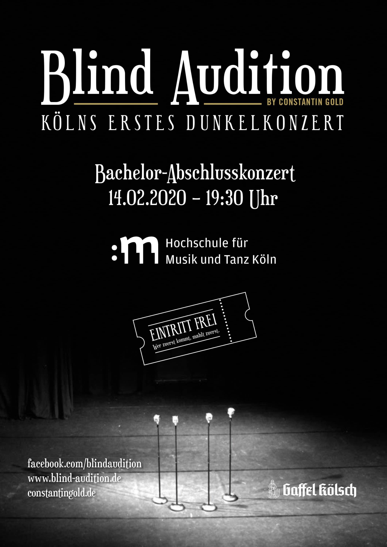 Kölns erstes Dunkelkonzert wird unterstützt von der Privatbrauerei Gaffel