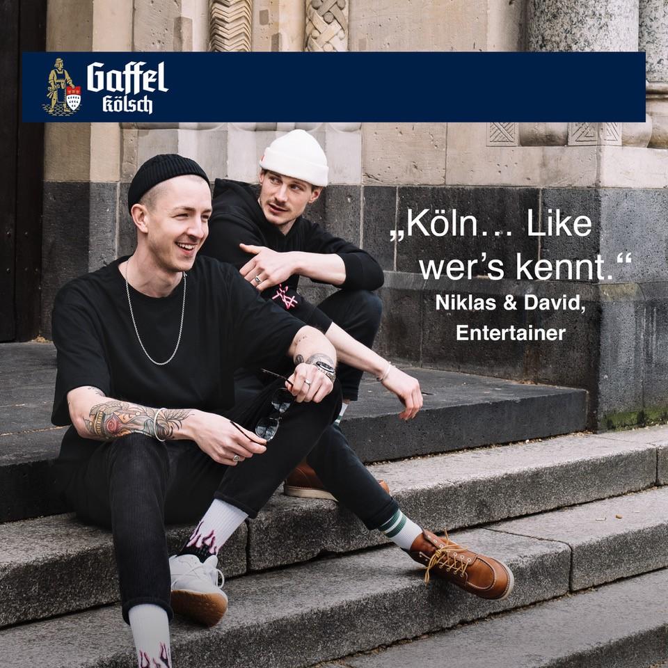 Entertainer- und Podcaster-Duo Niklas & David geben Köln eine Stimme
