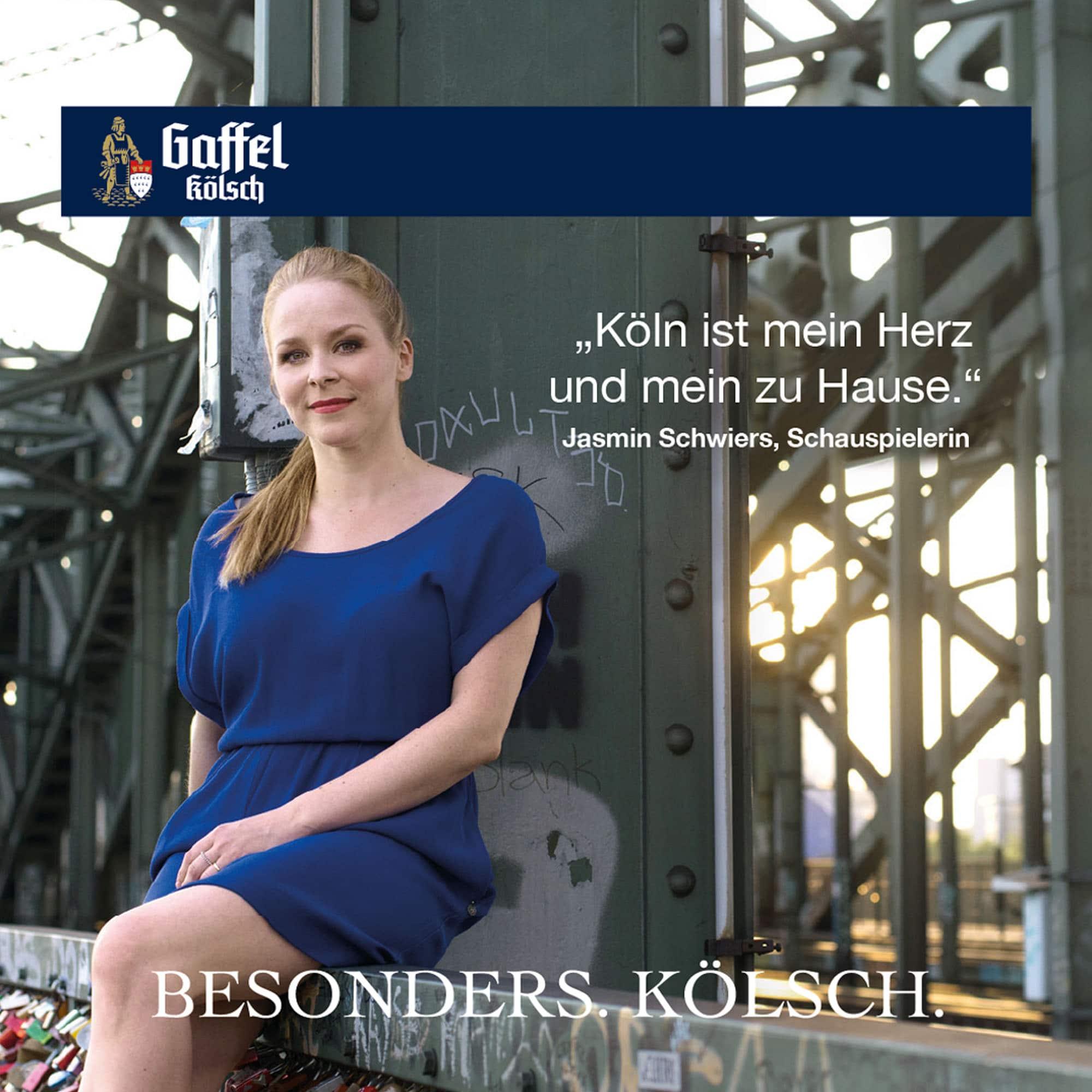 Jasmin Schwiers Stimme für Köln Bierdeckel