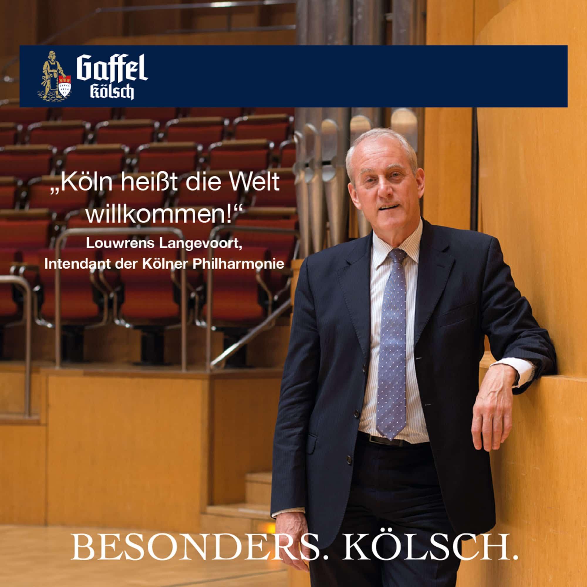 Louwrens Langevoort Stimme für Köln Bierdeckel