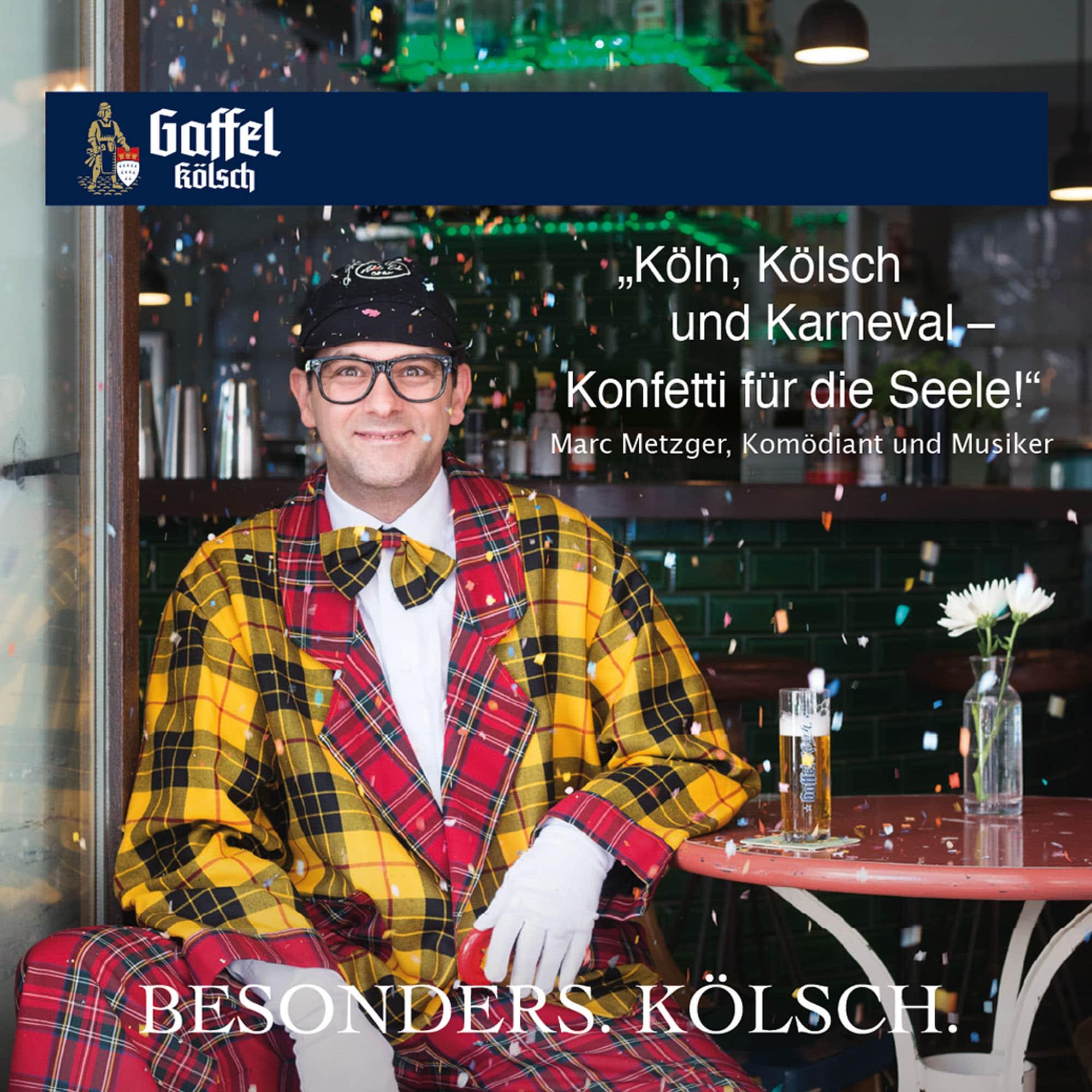 Marc Metzger Stimme für Köln Bierdeckel