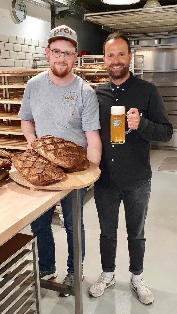 Bierprot aus frischem Gaffel Wiess