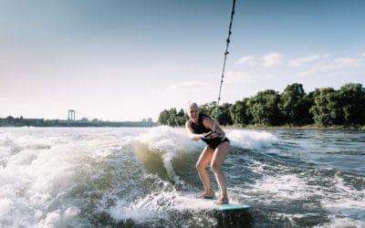 Surfen auf dem Rhein mit surft. kologne
