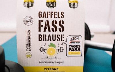 Mit Sixpacks zum Sixpack: Just Fit kooperiert mit Gaffels Fassbrause